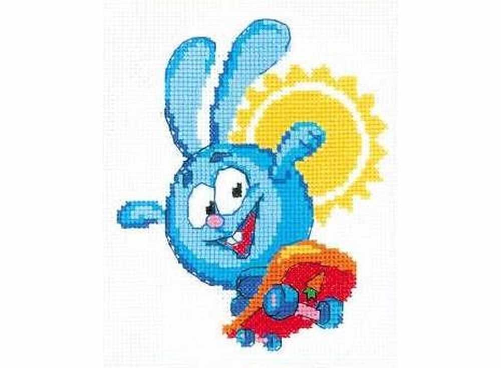Набор для вышивания «Крош»Вышивка крестом Риолис<br><br><br>Артикул: НВ169<br>Основа: канва 14 Aida Zweigart<br>Размер: 13x16 см<br>Техника вышивки: счетный крест<br>Серия: Риолис (Веселая пчелка)<br>Тип схемы вышивки: Цветная схема<br>Цвет канвы: Белый<br>Количество цветов: 10<br>Художник, дизайнер: Александра Гусарова<br>Заполнение: Частичное<br>Игла: 1 вид<br>Рисунок на канве: не нанесён<br>Техника: Вышивка крестом<br>Нитки: мулине СПб