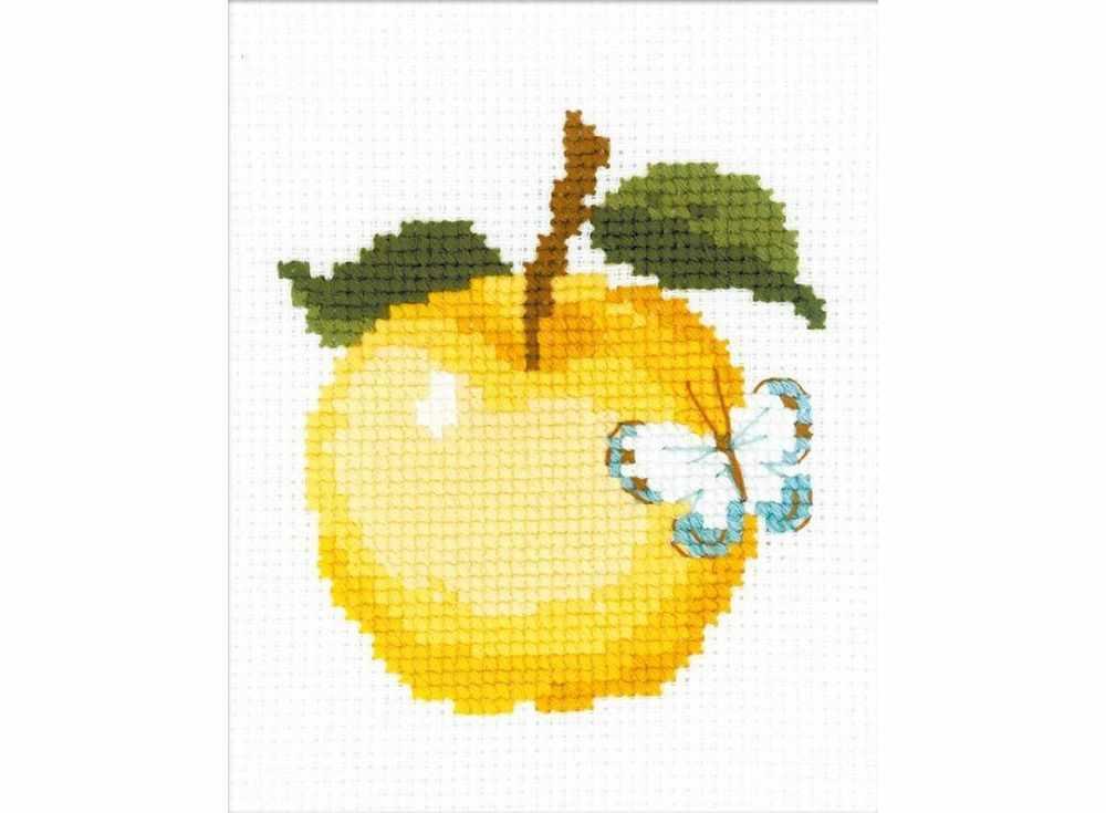 Набор для вышивания «Яблоко»Вышивка крестом Риолис<br><br><br>Артикул: НВ174<br>Основа: канва 10 Aida Zweigart<br>Размер: 13x16 см<br>Техника вышивки: счетный крест<br>Серия: Риолис (Веселая пчелка)<br>Тип схемы вышивки: Цветная схема<br>Цвет канвы: Белый<br>Количество цветов: 9<br>Художник, дизайнер: Анна Король<br>Заполнение: Частичное<br>Игла: 1 вид<br>Рисунок на канве: не нанесён<br>Техника: Вышивка крестом<br>Нитки: шерсть/акрил Safil