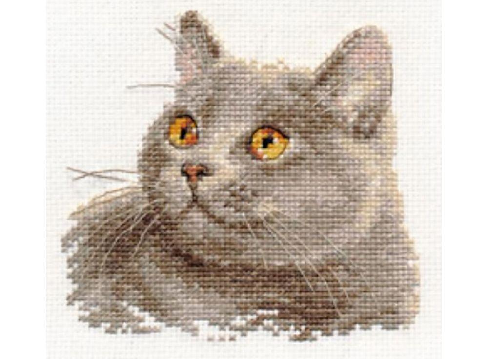 Набор для вышивания «Британский кот»Вышивка крестом Алиса<br><br><br>Артикул: 0-134<br>Основа: канва Aida 14 100% хлопок Gamma<br>Размер: 12x11 см<br>Техника вышивки: счетный крест<br>Тип схемы вышивки: Цветная схема<br>Цвет канвы: Белый<br>Количество цветов: 13<br>Заполнение: Частичное<br>Игла: Gamma<br>Рисунок на канве: не нанесён<br>Техника: Вышивка крестом<br>Нитки: Мулине Gamma
