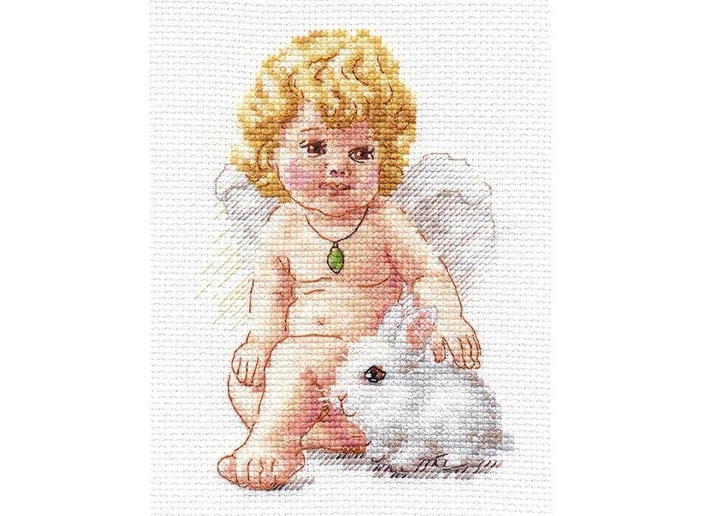 Набор для вышивания «Ангел Хранитель»Вышивка крестом Алиса<br><br><br>Артикул: 0-146<br>Основа: канва Aida 14 100% хлопок Gamma<br>Размер: 10x14 см<br>Техника вышивки: счетный крест<br>Тип схемы вышивки: Цветная схема<br>Цвет канвы: Белый<br>Количество цветов: 19<br>Заполнение: Частичное<br>Игла: Gamma<br>Рисунок на канве: не нанесён<br>Техника: Вышивка крестом<br>Нитки: Мулине Gamma