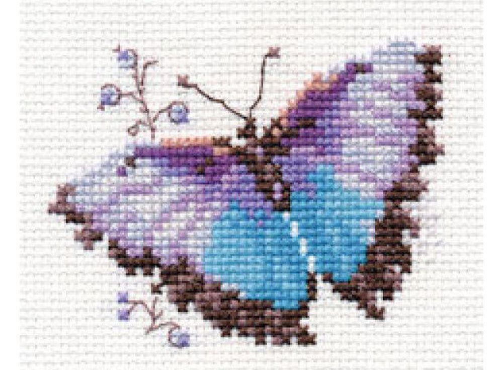 Набор для вышивания «Яркие бабочки. Голубая»Вышивка крестом Алиса<br><br>