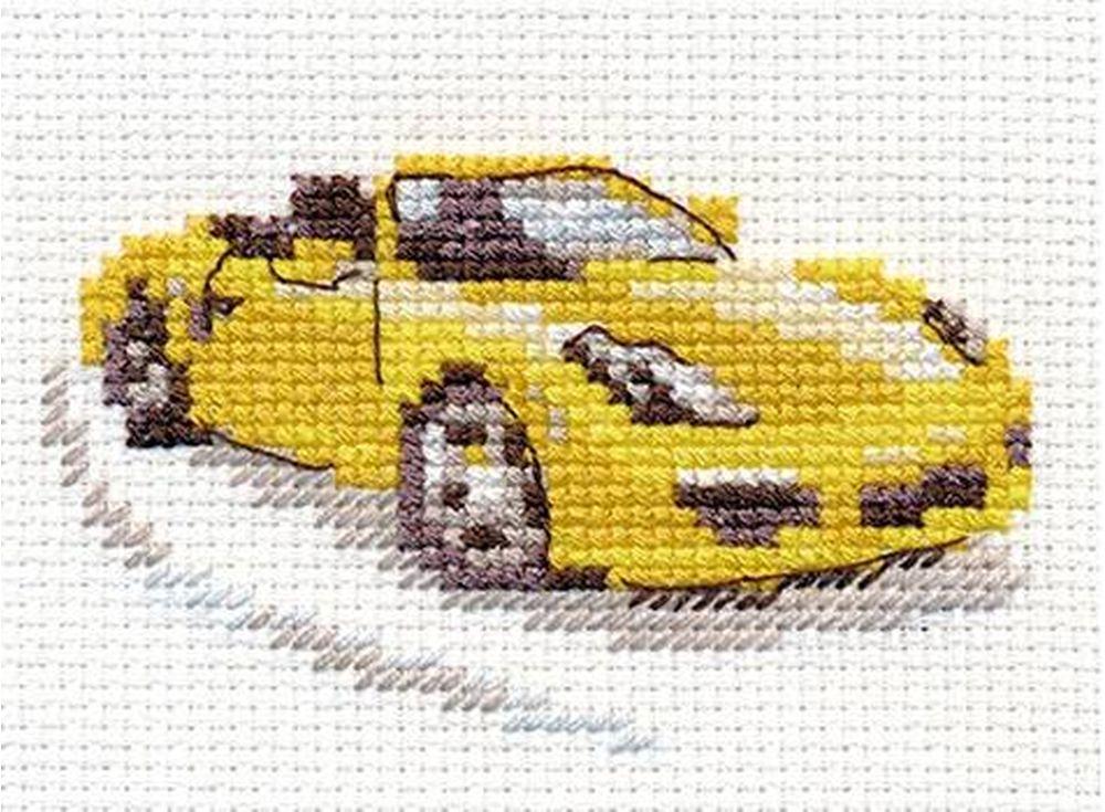 Набор для вышивания «Желтый спорткар»Вышивка крестом Алиса<br><br><br>Артикул: 0-156<br>Основа: канва Aida 14 100% хлопок Gamma<br>Размер: 9x6 см<br>Техника вышивки: счетный крест<br>Тип схемы вышивки: Цветная схема<br>Цвет канвы: Белый<br>Количество цветов: 8<br>Заполнение: Частичное<br>Игла: Gamma<br>Рисунок на канве: не нанесён<br>Техника: Вышивка крестом<br>Нитки: Мулине Gamma