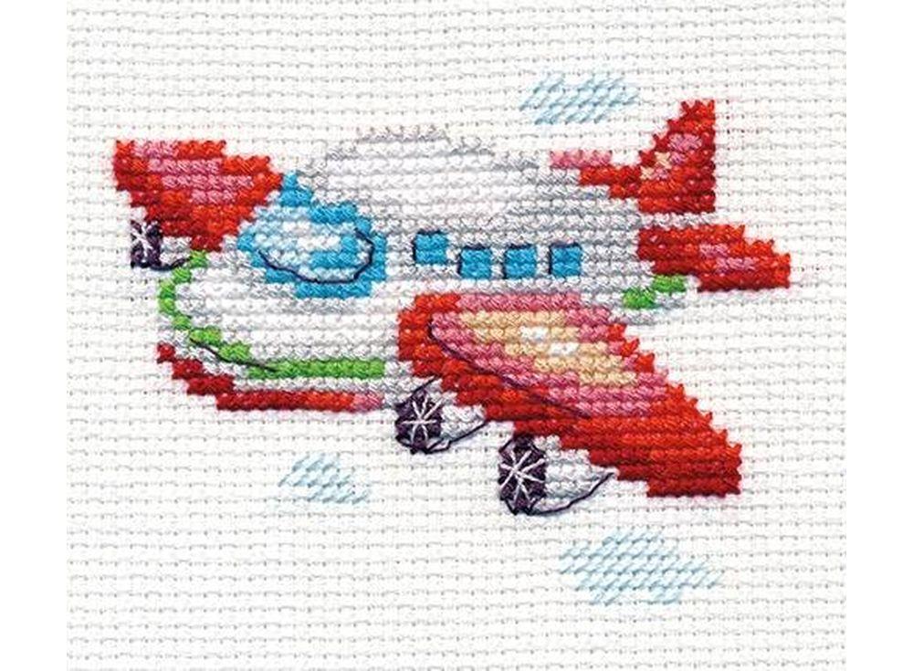Набор для вышивания «Самолетик»Вышивка крестом Алиса<br><br><br>Артикул: 0-160<br>Основа: канва Aida 14 100% хлопок Gamma<br>Размер: 8x6 см<br>Техника вышивки: счетный крест<br>Тип схемы вышивки: Цветная схема<br>Цвет канвы: Белый<br>Количество цветов: 10<br>Заполнение: Частичное<br>Игла: Gamma<br>Рисунок на канве: не нанесён<br>Техника: Вышивка крестом<br>Нитки: Мулине Gamma