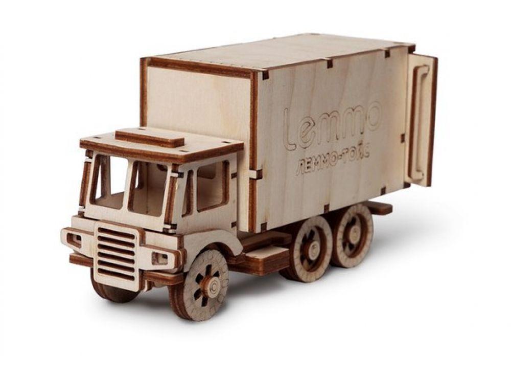 Конструктор «Фургон ЧИП»3D Конструкторы Lemmo<br>Экологически чистые, развивающие конструкторы от российского производителя Lemmo помогут вашему ребенку развить мелкую моторику рук, воображение, пространственное мышление, логику и познакомят с предметным моделированием.<br> <br>Все детали выполнены из кач...<br><br>Артикул: 00-65<br>Вес: 300 г<br>Размер готовой модели: 14,5x8,5x5,2 см<br>Материал: дерево (фанера)<br>Возраст: от 5 лет