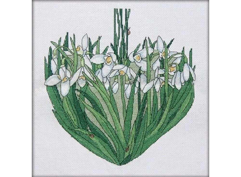 Набор для вышивания «Подснежники сердце. Март»Вышивка крестом<br><br>