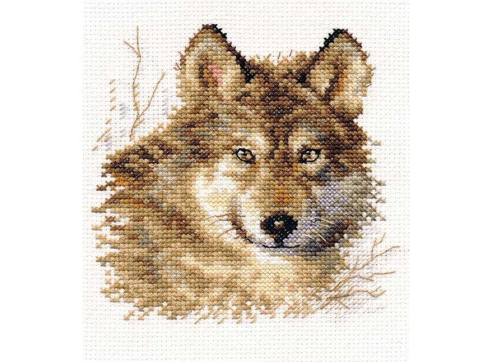 Набор для вышивания «Волк»Вышивка крестом Алиса<br><br><br>Артикул: 1-27<br>Основа: канва Aida 14 100% хлопок Gamma<br>Размер: 12x12 см<br>Техника вышивки: счетный крест<br>Тип схемы вышивки: Цветная схема<br>Цвет канвы: Белый<br>Количество цветов: 14<br>Заполнение: Частичное<br>Игла: Gamma<br>Рисунок на канве: не нанесён<br>Техника: Вышивка крестом<br>Нитки: Мулине Gamma