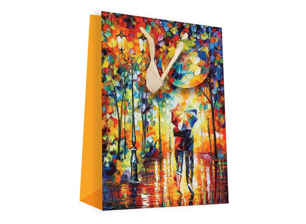 Подарочный пакет «Двое под зонтом»Подарочные пакеты<br><br><br>Артикул: 1002S-SB<br>Размер: 18x24x8 см
