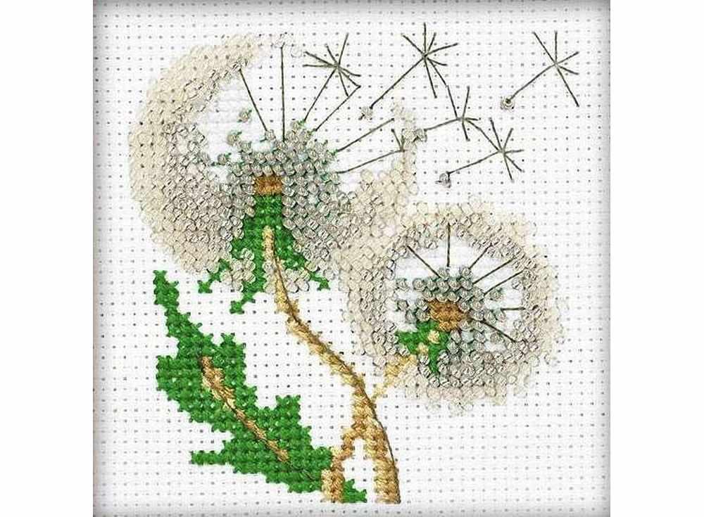 Набор вышивки бисером «Воздушные одуванчики»Вышивка бисером Риолис<br><br><br>Артикул: 1319<br>Основа: канва 14 Aida Zweigar<br>Размер: 10x10 см<br>Техника вышивки: бисер<br>Тип схемы вышивки: Цветная схема<br>Цвет канвы: Белый<br>Количество цветов: Мулине: 5 цветов, бисер: 3 цвета<br>Художник, дизайнер: Анна Король<br>Заполнение: Частичное<br>Игла: 2 вида<br>Рисунок на канве: не нанесён<br>Техника: Вышивка бисером<br>Нитки: мулине СПб