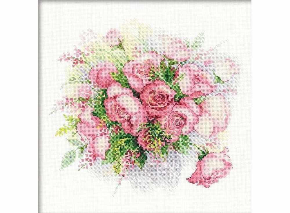 Набор для вышивания «Акварельные розы»Вышивка крестом Риолис<br><br><br>Артикул: 1335<br>Основа: канва 14 Aida Zweigart<br>Размер: 30x30 см<br>Техника вышивки: счетный крест<br>Серия: Риолис (Сотвори Сама)<br>Тип схемы вышивки: Цветная схема<br>Цвет канвы: Белый<br>Количество цветов: 22<br>Художник, дизайнер: Анна Петросян<br>Заполнение: Частичное<br>Игла: 1 вид<br>Рисунок на канве: не нанесён<br>Техника: Вышивка крестом<br>Нитки: мулине Anchor