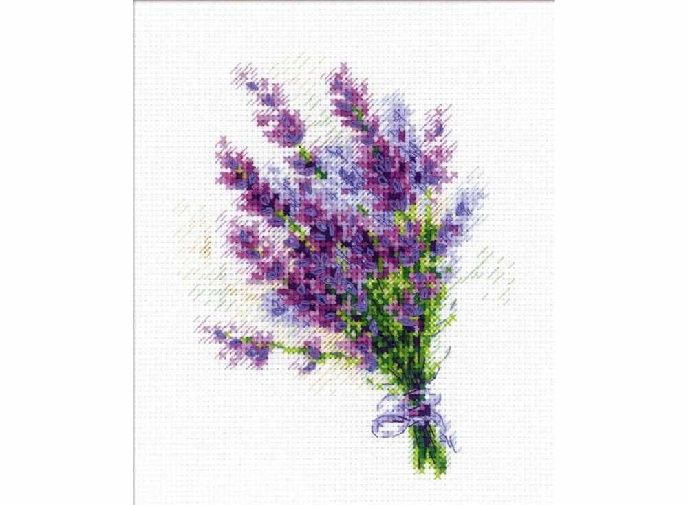Набор для вышивания «Букетик с лавандой»Вышивка крестом Риолис<br><br><br>Артикул: 1607<br>Основа: канва 14 Aida Zweigart<br>Размер: 15x18 см<br>Техника вышивки: счетный крест<br>Серия: Риолис (Сотвори Сама)<br>Тип схемы вышивки: Цветная схема<br>Цвет канвы: Белый<br>Количество цветов: 13<br>Художник, дизайнер: Анна Петросян<br>Заполнение: Частичное<br>Игла: 1 вид<br>Рисунок на канве: не нанесён<br>Техника: Вышивка крестом<br>Нитки: мулине Anchor