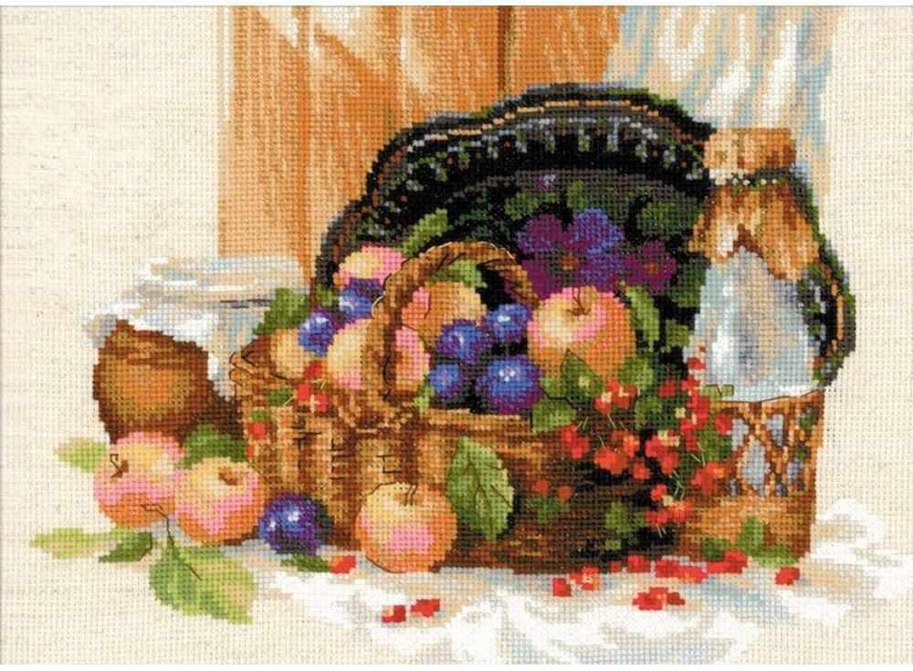 Набор для вышивания «Летнее изобилие»Вышивка крестом Риолис<br><br><br>Артикул: 1610<br>Основа: канва 10 Aida Zweigart<br>Размер: 40x30 см<br>Техника вышивки: счетный крест<br>Серия: Риолис (Сотвори Сама)<br>Тип схемы вышивки: Цветная схема<br>Цвет канвы: Льняной<br>Количество цветов: 30<br>Художник, дизайнер: Александра Гусарова<br>Заполнение: Частичное<br>Игла: 1 вид<br>Рисунок на канве: не нанесён<br>Техника: Вышивка крестом<br>Нитки: шерсть/акрил Safil
