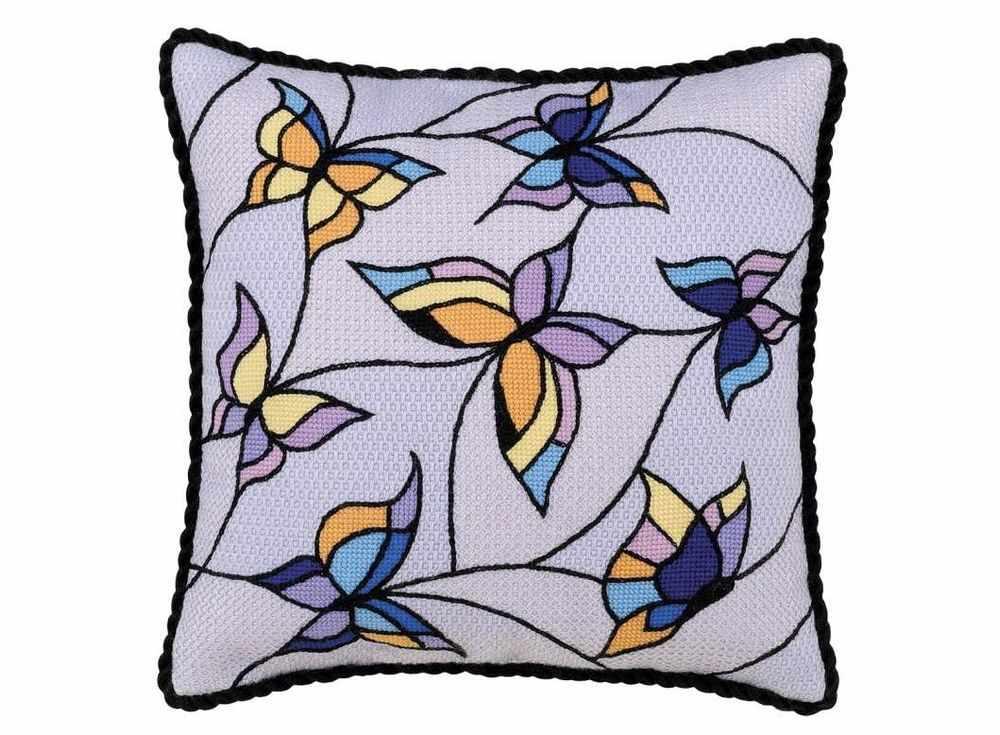 Набор для вышивания «Подушка/панно. Витраж, бабочки»