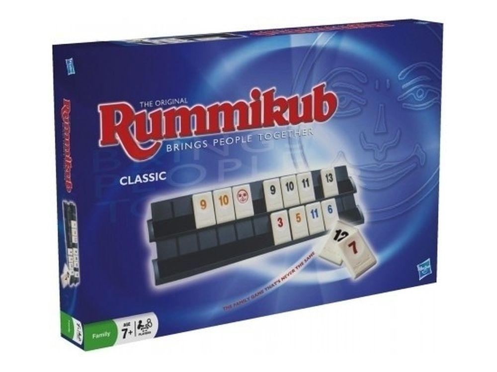 Настольная игра «Rummikub оригинальная версия»Настольные семейные игры<br>Простые правила и увлекательный игровой процесс - это настольная игра «Rummikub оригинальная версия». <br> Суть игры: каждый игрок берет 14 фишек и раскладывает у себя на подставке в группы (набор фишек с одинаковым числом, но разного цвета) или ряды (п...<br><br>Артикул: 2600<br>Размер упаковки: 35x26,7x4 см<br>Возраст: от 7 лет<br>Время игры: 20-60 мин.<br>Количество игроков: 2+<br>Аудитория: Детские