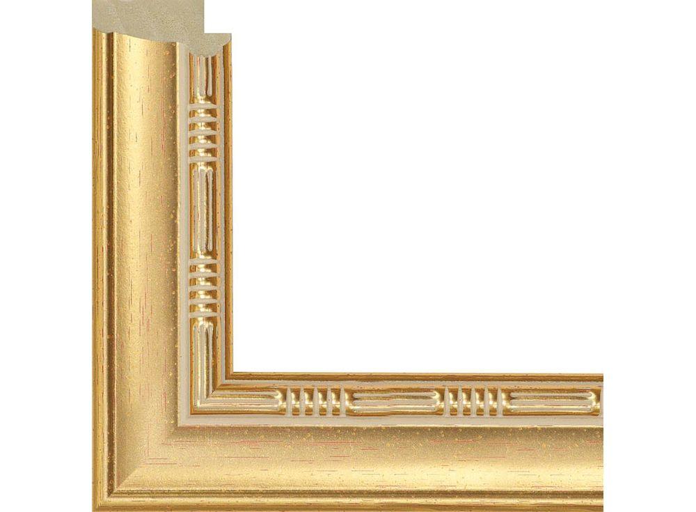 Рамка без стекла для картинБагетные рамки<br><br><br>Артикул: 317003-4040<br>Размер: 40x40 см<br>Цвет: Золото<br>Ширина: 29 мм<br>Материал багета: Пластик<br>Глубина багета: 14 мм
