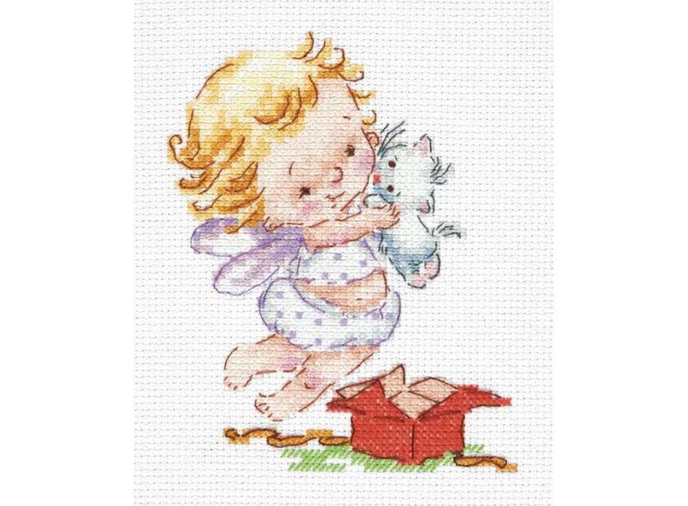 Набор для вышивания «Люблю подарочки!»Вышивка крестом Чудесная игла<br><br><br>Артикул: 35-23<br>Основа: канва Aida 14 (хлопок)<br>Размер: 10x13 см<br>Техника вышивки: счетный крест<br>Тип схемы вышивки: Цветная схема<br>Цвет канвы: Белый<br>Количество цветов: 18<br>Заполнение: Частичное<br>Игла: №24<br>Рисунок на канве: не нанесён<br>Техника: Вышивка крестом<br>Нитки: Мулине 100% хлопок Bestex