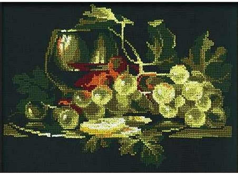 Набор для вышивания «Натюрморт с лимоном»Вышивка крестом Риолис<br><br><br>Артикул: 365<br>Основа: канва хлопок К4<br>Размер: 40x30 см<br>Техника вышивки: счетный крест<br>Серия: Риолис (Сотвори Сама)<br>Тип схемы вышивки: Цветная схема<br>Цвет канвы: Черный<br>Количество цветов: 12<br>Художник, дизайнер: Елена Пожилова<br>Заполнение: Частичное<br>Игла: 1 вид<br>Рисунок на канве: не нанесён<br>Техника: Вышивка крестом<br>Нитки: шерсть/акрил Safil