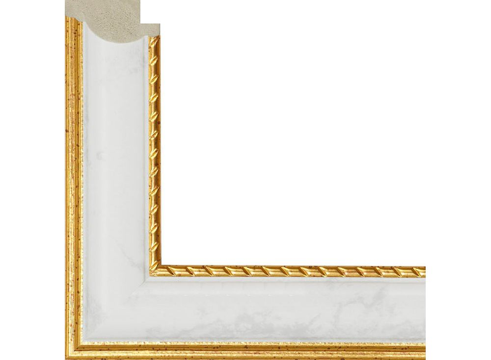 Рамка без стекла для картинБагетные рамки<br><br><br>Артикул: 390007-4040<br>Размер: 40x40 см<br>Цвет: Белый мраморный и золото<br>Ширина: 30 мм<br>Материал багета: Пластик<br>Глубина багета: 14 мм