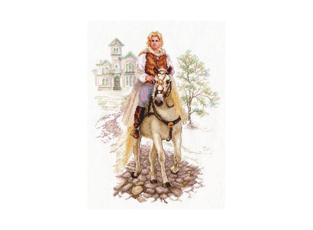 Набор для вышивания «Юноша на белом коне»Вышивка крестом Алиса<br><br><br>Артикул: 4-17<br>Основа: канва Aida 14 100% хлопок Gamma<br>Размер: 24x32 см<br>Техника вышивки: счетный крест<br>Тип схемы вышивки: Цветная схема<br>Цвет канвы: Белый<br>Количество цветов: 32<br>Заполнение: Частичное<br>Игла: Gamma<br>Рисунок на канве: не нанесён<br>Техника: Вышивка крестом<br>Нитки: Мулине Gamma