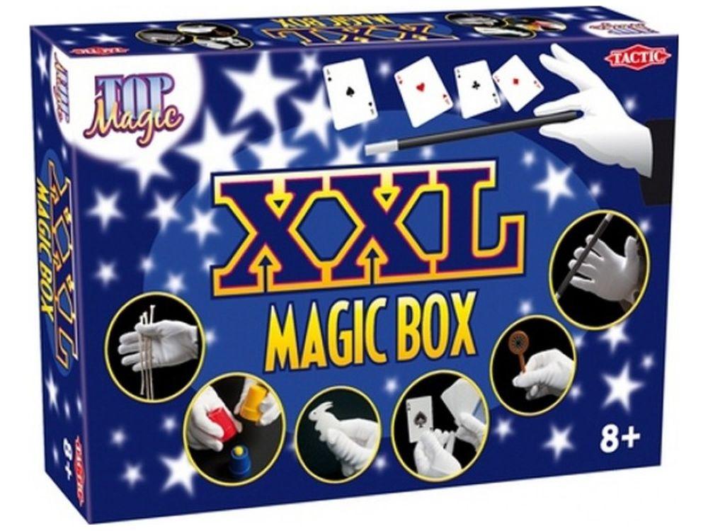 Настольная игра «Фокусы XXL»Наборы для фокусов<br>Карточные трюки, кролики, исчезающие монеты… Здесь не только фокусы, но и настоящая магия! Легко учиться, просто удивлять! <br>Фокусы XXL - неограниченные возможности творить чудеса! В волшебной коробке Magic Box Вы найдете инструкции с рисунками и предме...<br><br>Артикул: 40167N<br>Размер упаковки: 41x27,5x75 см<br>Возраст: от 8 лет<br>Время игры: от 20 мин.<br>Количество игроков: 1+<br>Аудитория: Детские