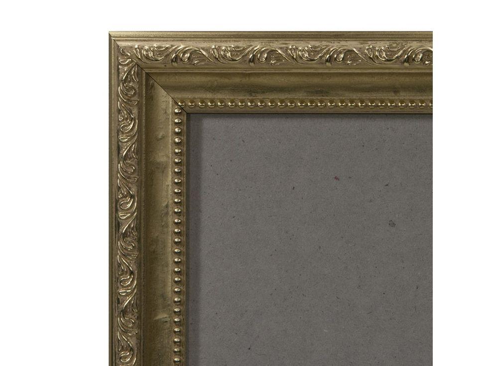 Рамка без стекла для картин «Runa»Багетные рамки<br><br><br>Артикул: 4050/40<br>Размер: 40x50 см<br>Цвет: Золото<br>Ширина: 25<br>Материал багета: Пластик<br>Глубина багета: 9 мм