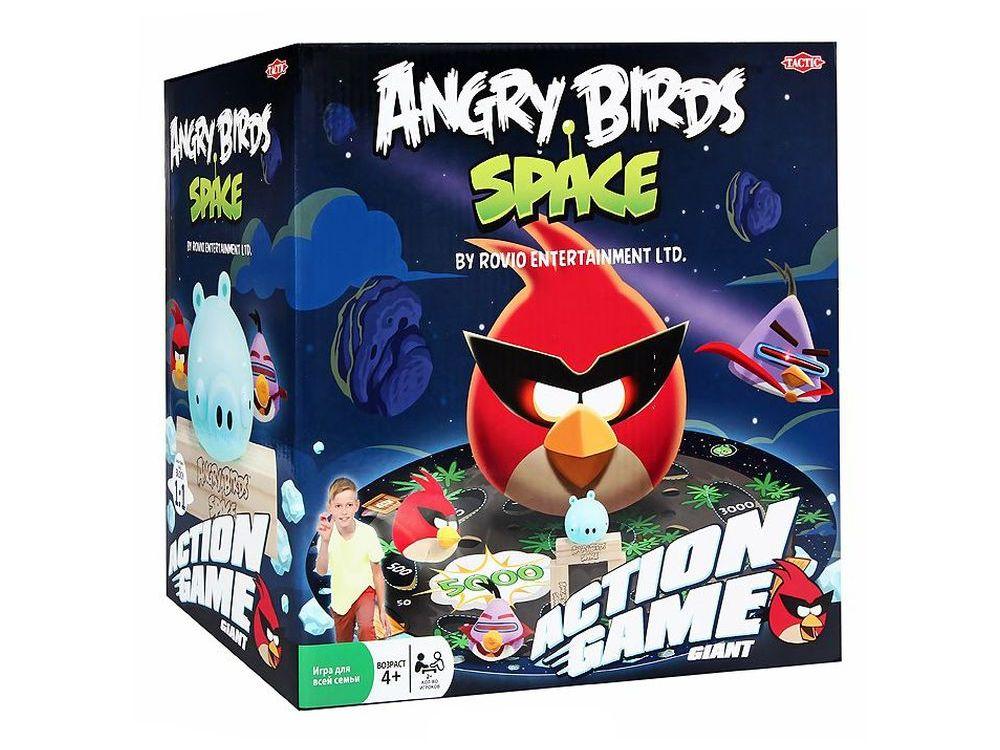 Настольная игра «Игра Angry Birds Космос»Активные игры<br>Настольная игра «Игра Angry Birds Космос» позволит вашему ребенку весело провести время в кругу семьи или друзей. <br><br>Составьте фигуру из деревянных блоков на любом из трех полей на коврике и поместите поросенка внутри фигуры, либо на ней. Постарайтесь сб...<br><br>Артикул: 40833N<br>Размер упаковки: 25x25x16 см<br>Возраст: от 4 лет<br>Время игры: 15-30 мин.<br>Количество игроков: 2+<br>Аудитория: Детские