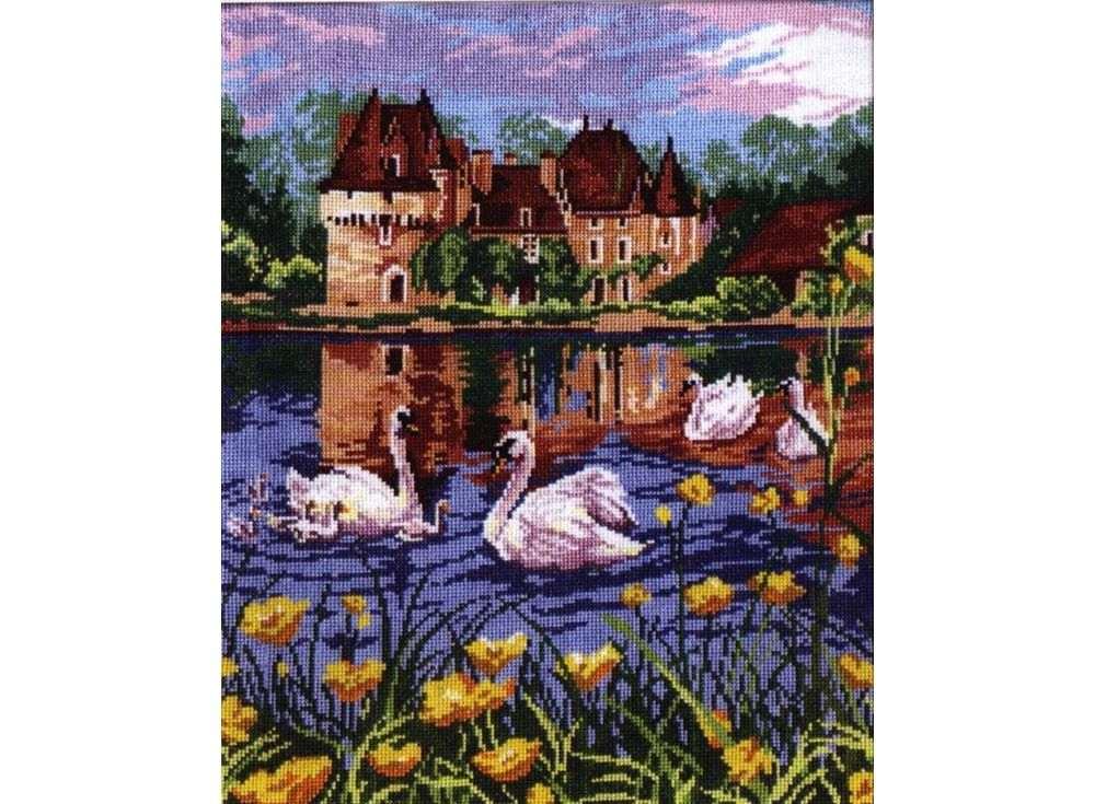 Набор для вышивания «Лебединое озеро»Вышивка крестом Чудесная игла<br><br><br>Артикул: 44-04<br>Основа: канва Aida 14 (хлопок)<br>Размер: 28x36 см<br>Техника вышивки: счетный крест<br>Тип схемы вышивки: Цветная схема<br>Цвет канвы: Белый<br>Количество цветов: 20<br>Заполнение: Полное<br>Игла: №24<br>Рисунок на канве: не нанесён<br>Техника: Вышивка крестом<br>Нитки: Мулине Чудесная игла