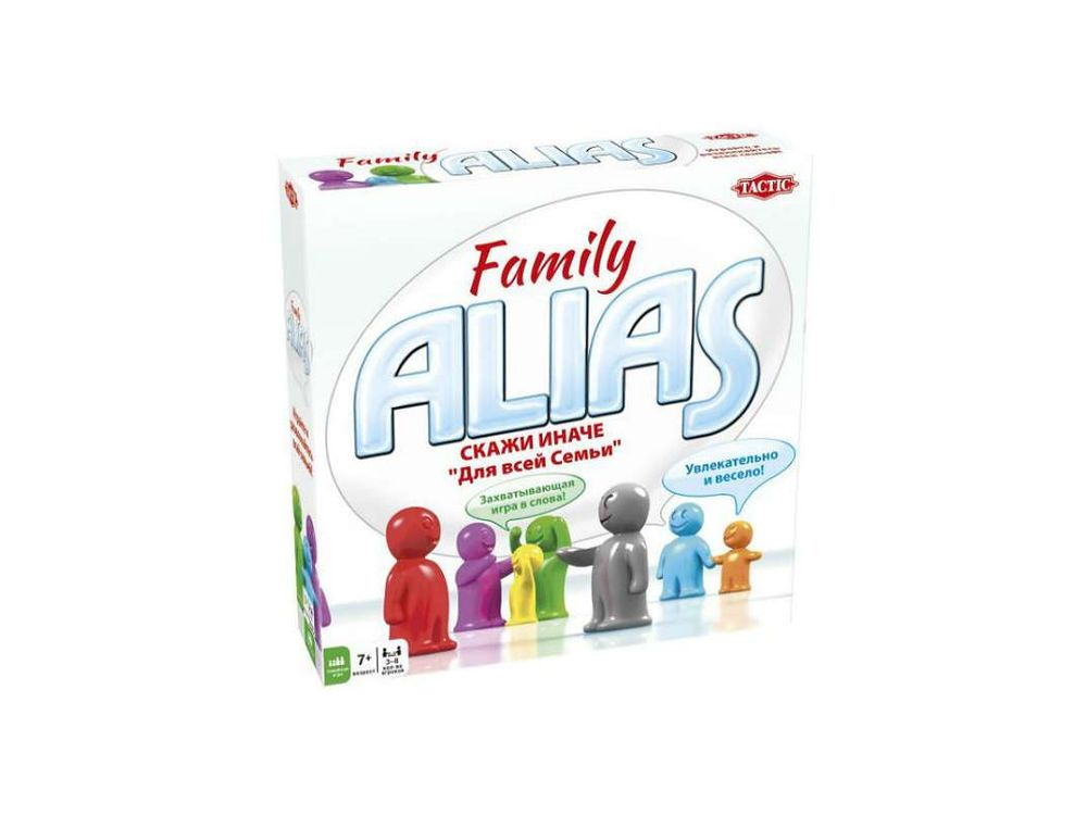 Настольная игра «Скажи иначе для всей семьи 2»Настольные логические игры<br>В эту игру можно играть всей семьей! В отличие от традиционного Alias, в данной версии игроки не делятся на команды, а каждый передвигает свою фишку на поле. Карточки со словами разделены на взрослые и детские. Рулетка покажет, кто из игроков будет вашим ...<br><br>Артикул: 53367<br>Размер упаковки: 25x25x6,2 см<br>Возраст: от 7 лет<br>Время игры: 30-60 мин.<br>Количество игроков: 3+<br>Аудитория: Детские