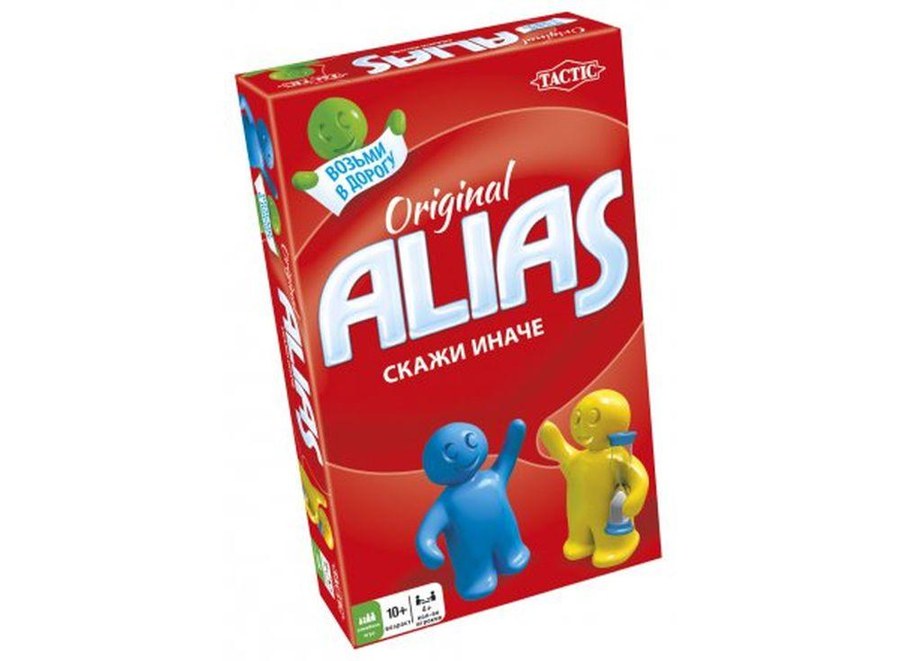Настольная игра «Alias Original»Настольные логические игры<br>Компактный набор «Alias Original» можно взять с собой в любое путешествие, ведь игра совсем не занимает места. <br>Это командная игра на время, задача которой — объяснить как можно больше слов из карточек своему напарнику, перефразируя их с помощью синонимо...<br><br>Артикул: 53368<br>Размер упаковки: 11,2x18,3x3,7 см<br>Возраст: от 10 лет<br>Время игры: от 30 мин.<br>Количество игроков: 4+<br>Аудитория: Детские