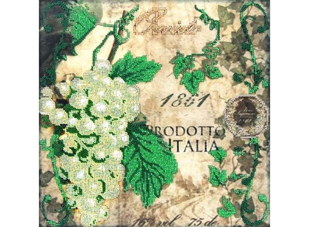 Набор вышивки бисером «Зеленый виноград»Вышивка бисером Астрея (Глурия)<br><br><br>Артикул: 60022<br>Основа: габардин<br>Размер: 30x30 см<br>Техника вышивки: бисер<br>Тип схемы вышивки: Цветная схема<br>Количество цветов: 8<br>Заполнение: Частичное<br>Рисунок на канве: нанесён рисунок и схема<br>Техника: Вышивка бисером
