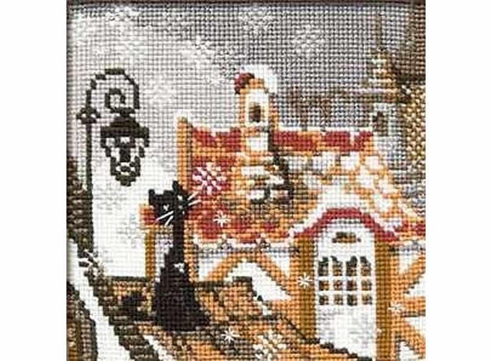 Набор для вышивания «Город и кошки.Зима»Вышивка крестом Риолис<br><br><br>Артикул: 610<br>Основа: канва 15 Aida Zweigart<br>Размер: 13x13 см<br>Техника вышивки: счетный крест<br>Серия: Риолис (Сотвори Сама)<br>Тип схемы вышивки: Цветная схема<br>Цвет канвы: Белый<br>Количество цветов: 9<br>Художник, дизайнер: Галина Скабеева<br>Заполнение: Полное<br>Игла: 1 вид<br>Рисунок на канве: не нанесён<br>Техника: Вышивка крестом<br>Нитки: шерсть/акрил Safil