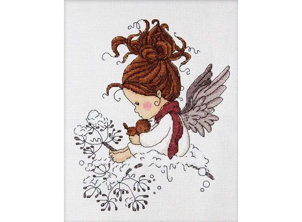 Набор для вышивания «Рождественский ангел»Вышивка крестом Астрея (Глурия)<br><br><br>Артикул: 621<br>Основа: канва 14 Aida Zweigart<br>Размер: 20x24 см<br>Техника вышивки: счетный крест<br>Тип схемы вышивки: Цветная схема<br>Цвет канвы: Белый<br>Количество цветов: 12<br>Художник, дизайнер: Татьяна Марчукова<br>Заполнение: Частичное<br>Рисунок на канве: не нанесён<br>Техника: Вышивка крестом<br>Нитки: Мулине DMC