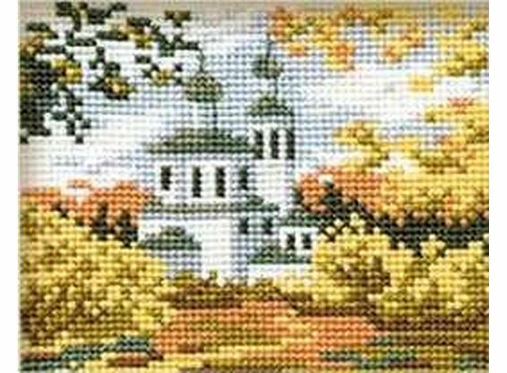 Набор для вышивания «Осень в деревне»Вышивка крестом Риолис<br><br><br>Артикул: 631<br>Основа: канва 10 Aida Zweigart<br>Размер: 16x13 см<br>Техника вышивки: счетный крест<br>Серия: Риолис (Сотвори Сама)<br>Тип схемы вышивки: Цветная схема<br>Цвет канвы: Белый<br>Количество цветов: 10<br>Художник, дизайнер: Светлана Сидорова<br>Заполнение: Полное<br>Игла: 1 вид<br>Рисунок на канве: не нанесён<br>Техника: Вышивка крестом<br>Нитки: шерсть/акрил Safil