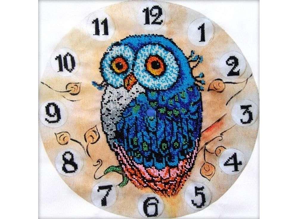 Набор вышивки бисером «Часы-Сказочная сова»Вышивка часов Астрея (Глурия)<br><br><br>Артикул: 68003<br>Основа: габардин<br>Размер: 30x30 см<br>Техника вышивки: бисер<br>Тип схемы вышивки: Цветная схема<br>Количество цветов: 9<br>Заполнение: Частичное<br>Рисунок на канве: нанесён рисунок и схема<br>Техника: Вышивка часов