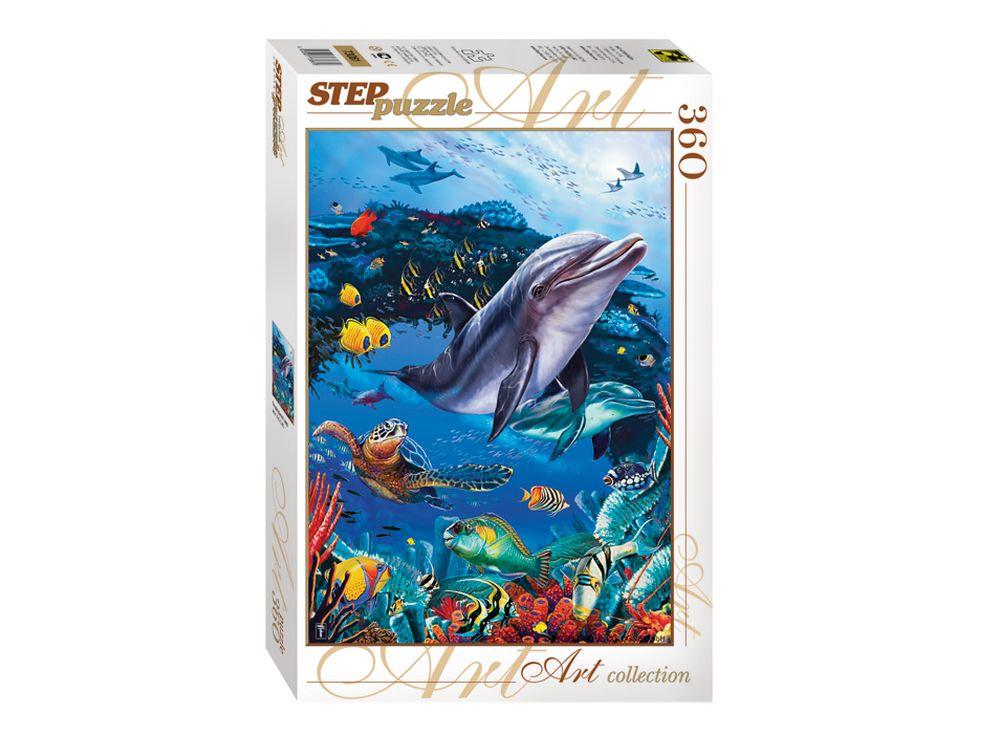 Пазлы «Подводный мир»Пазлы от производителя Step Puzzle<br><br><br>Артикул: 73061<br>Размер: 34,5x50 см<br>Возраст: от 6 лет