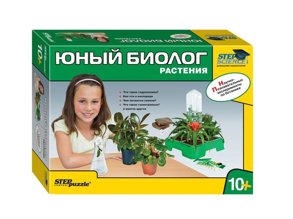 Набор «Юный биолог. Растения. Домашняя лаборатория»Наборы для опытов и экспериментов<br>В ходе работы с домашней лабораторией ребенок:<br><br>узнает что такое гидропоника и как можно выращивать растения, используя этот метод;<br><br>соберёт мини-теплицу и узнает что такое кокосовый торф;<br><br>научится правильно высаживать, поливать и ухаживать за...<br><br>Артикул: 76048<br>Размер упаковки: 43x31,5x11,5 см<br>Возраст: от 10 лет<br>Количество игроков: 1+<br>Аудитория: Детские