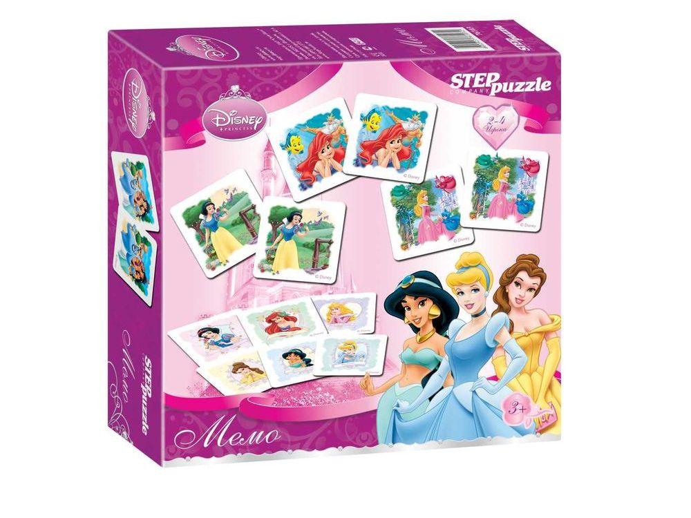 Игра «Принцессы» Мемо (Disney)Настольные развивающие игры<br>Лучшая игра для развития памяти и наблюдательности, заключающаяся в подборе одинаковых карточек в пары.<br><br>Артикул: 76103<br>Размер упаковки: 20x20x5 см<br>Возраст: от 3 лет<br>Время игры: от 15 мин.<br>Количество игроков: 2+<br>Аудитория: Детские