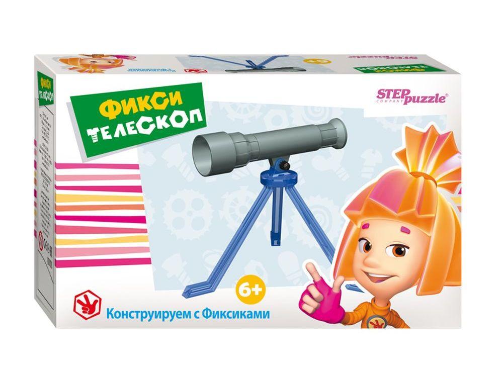 Развивающая игра «Фикси-телескоп»Наборы для опытов и экспериментов<br>Игра-конструктор «Фикси-телескоп»— увлекательная развивающая игра для детей.<br> С помощью этого набора ребенок получит представление об устройстве телескопа, самостоятельно соберет конструктор и сможет понаблюдать за Луной и другими космическими объектами...<br><br>Артикул: 76163<br>Размер упаковки: 16x12,5x6 см<br>Возраст: от 6 лет<br>Количество игроков: 1+<br>Аудитория: Детские