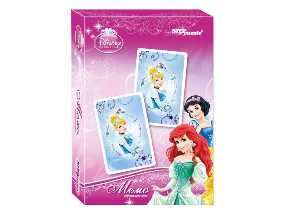 Настольная игра «Принцессы. Мемо»Настольные развивающие игры<br>Настольная игра Принцессы. Мемо (Disney) – разложите карты на стол картинками вниз. Открывая по две карты, соберите как можно больше пар персонажей из любимого мультфильма.<br> <br> Что полезного в игре?<br> Игра способствует развитию внимания, памяти.<br> <br> Как...<br><br>Артикул: 76221<br>Размер упаковки: 9,5x6x1,5 см<br>Возраст: от 3 лет<br>Время игры: 10-30 мин.<br>Количество игроков: 2+<br>Аудитория: Детские