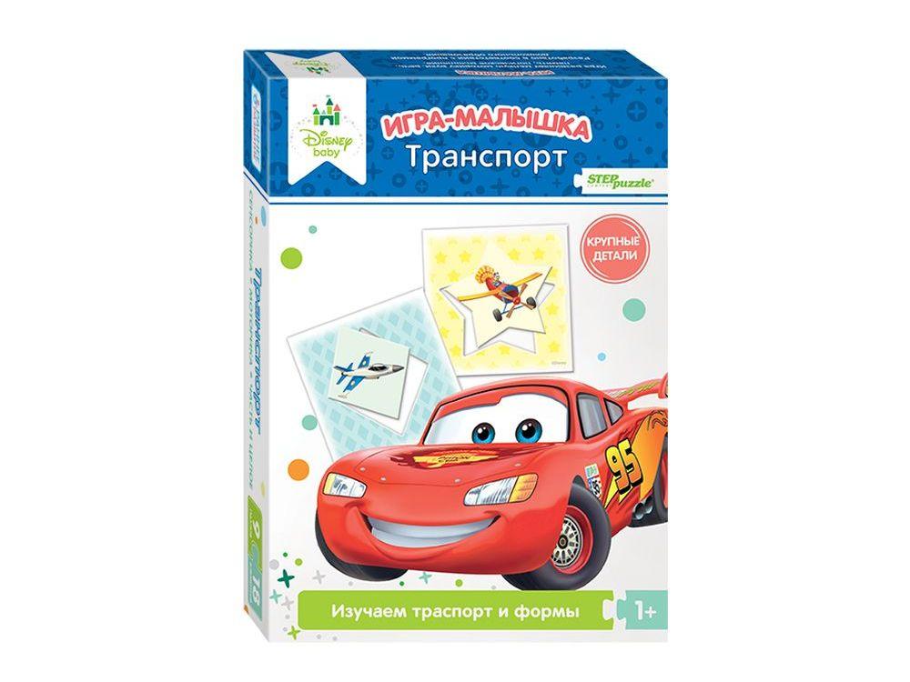 Игра-малышка «Транспорт»Настольные развивающие игры<br>Развивающая игра-малышка «Транспорт» знакомит ребенка с транспортом и формами. Развивает внимание, наблюдательность, мышление, координацию, зрительную и двигательную память - мелкую моторику рук.<br> <br> Что полезного в игре?<br> Игра поможет малышам узнать ок...<br><br>Артикул: 76228<br>Размер упаковки: 19,5x13,7x3,5 см<br>Возраст: от 1 года<br>Время игры: 10-30 мин.<br>Количество игроков: 1+<br>Аудитория: Детские