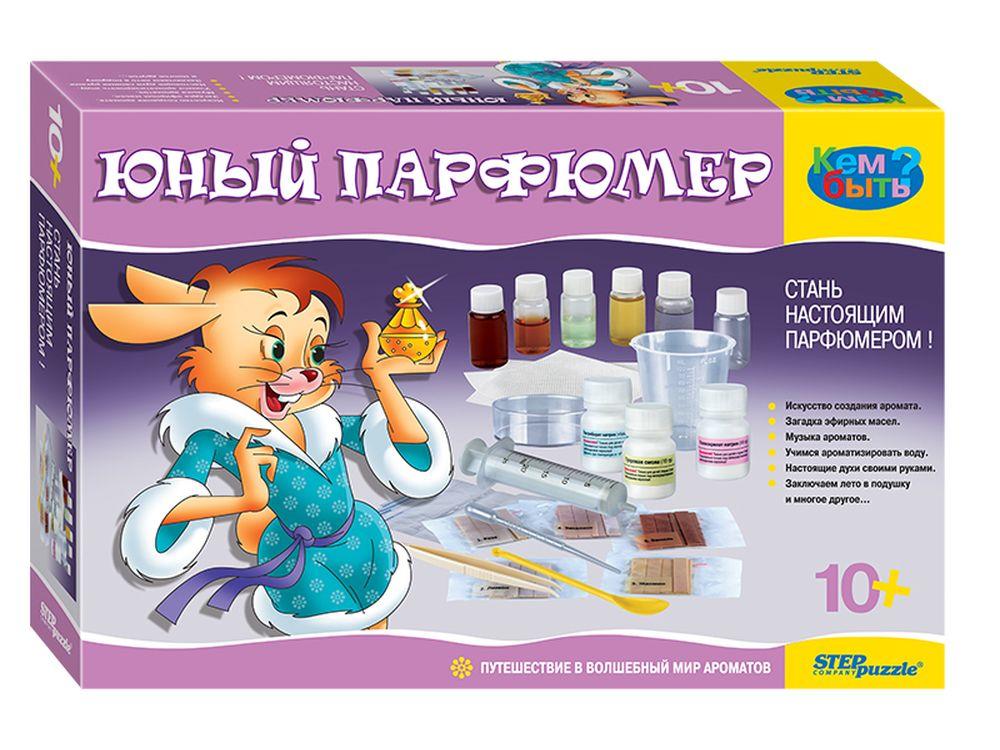 """Набор «Юный парфюмер»Наборы для опытов и экспериментов<br>Набор """"Юный парфюмер"""" - поможет ребенку стать настоящим парфюмером, создавая волшебные ароматы.<br> <br> Кому будет интересно?<br> Набор """"Юный парфюмер"""" - предназначен для начинающих парфюмеров, которые стремятся узнать всё, что связано с парфюмерией. Подойдет ...<br><br>Артикул: 76307<br>Размер упаковки: 40x26,5x9 см<br>Возраст: от 10 лет<br>Количество игроков: 1+<br>Аудитория: Детские"""