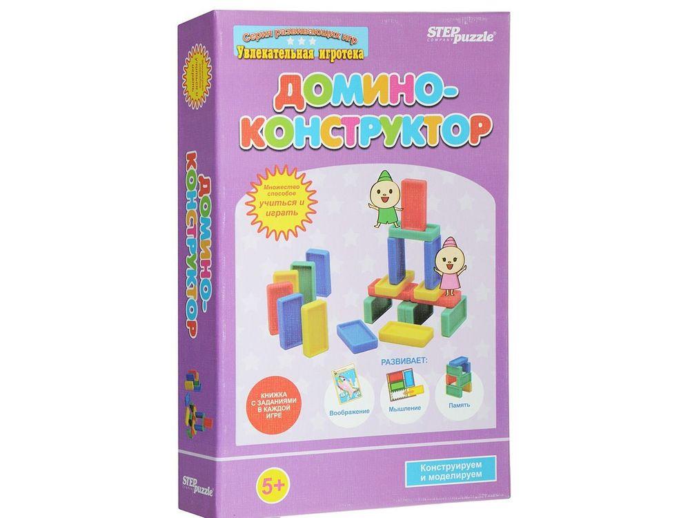 Развивающая игра «Домино-конструктор»Настольные классические игры<br>Игра «Домино-конструктор» — развивающая игра с костяшками домино. Игра разработана для всестороннего развития детей и закрепления положительного результата от полученных знаний. Дети смогут самостоятельно решать задачи, потому что игра «Домино-конструктор...<br><br>Артикул: 76532<br>Размер упаковки: 14x22x4 см<br>Возраст: от 5 лет<br>Время игры: 10-30 мин.<br>Количество игроков: 1+<br>Аудитория: Детские