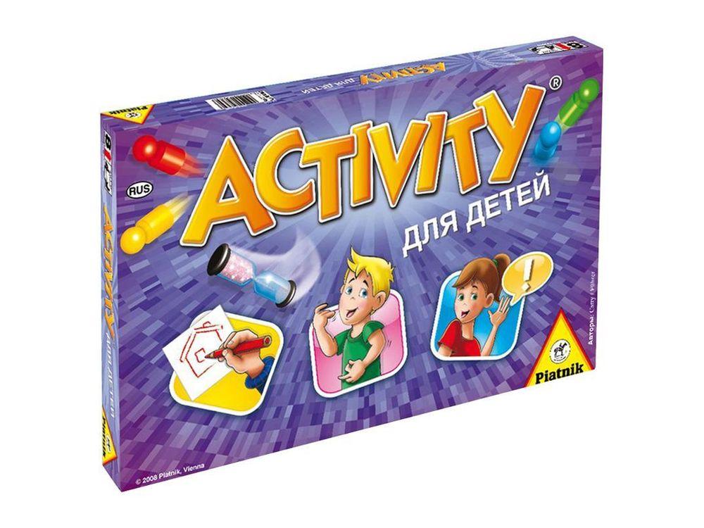Настольная игра «Activity для детей»Настольные семейные игры<br>Игра настольная «Activity для детей» - оригинальный способ провести вечер в компании своих друзей. Упрощенная версия создана специально для детей, им тоже предстоит объяснять загаданное слово при помощи жестов, рисунка иди других, не называя его прямо. От...<br><br>Артикул: 793646<br>Размер упаковки: 34,5x22x4,5 см<br>Возраст: от 8 лет<br>Время игры: 60 мин.<br>Количество игроков: 4+<br>Аудитория: Детские