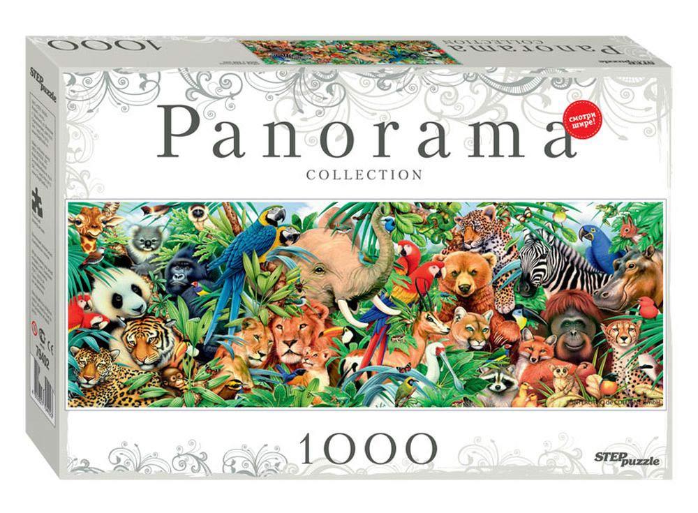 Панорамный пазл «Мир животных»Пазлы от производителя Step Puzzle<br><br><br>Артикул: 79402<br>Размер: 100x34 см<br>Возраст: от 7 лет