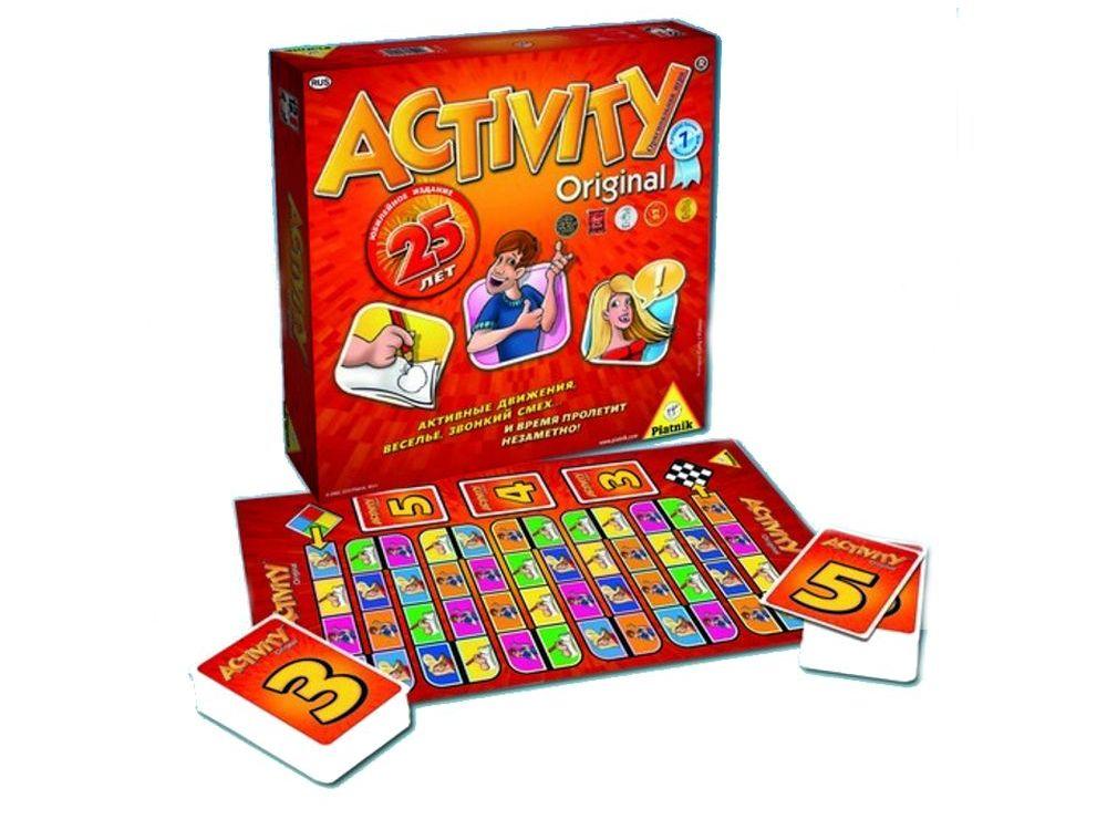 Настольная игра «Activity 2»Настольные семейные игры<br>Настольная игра Piatnik «Activity 2» - отличный способ интересно и весело провести время в компании друзей или всей семьей. <br> Игра для общения, основанная на обмене идеями и ассоциациями. <br>Задача игроков - в соответствии с карточками объяснить загаданно...<br><br>Артикул: 794094<br>Размер упаковки: 32x32x8 см<br>Возраст: от 12 лет<br>Время игры: 60-90 мин.<br>Количество игроков: 3+<br>Аудитория: Детские