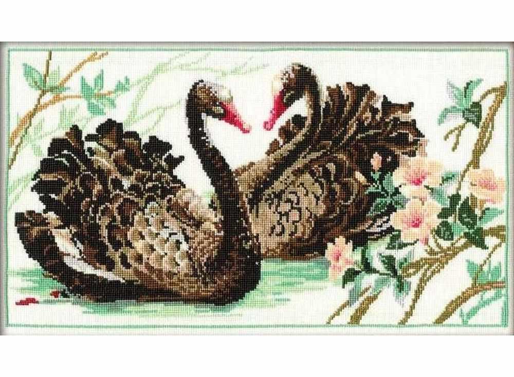 Набор для вышивания «Чёрные лебеди»Вышивка крестом Риолис<br><br>