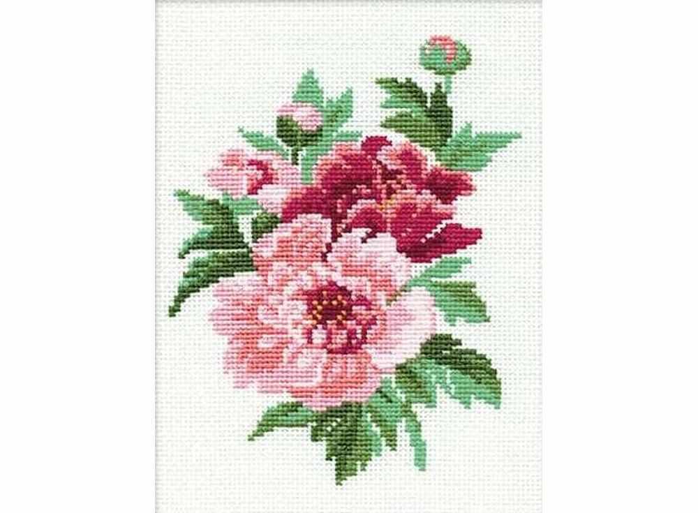 Купить Вышивка крестом, Набор для вышивания «Пионы», Риолис (Сотвори Сама), 20x26 см, 815