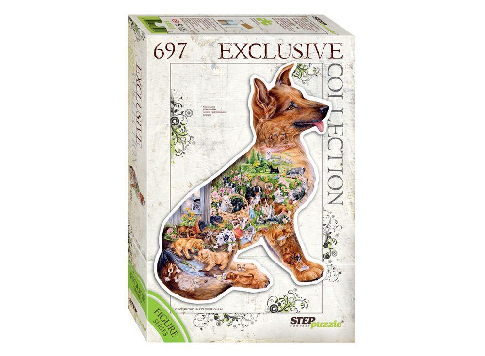 Контурный пазл «Собака»Пазлы от производителя Step Puzzle<br><br><br>Артикул: 83503<br>Возраст: от 7 лет