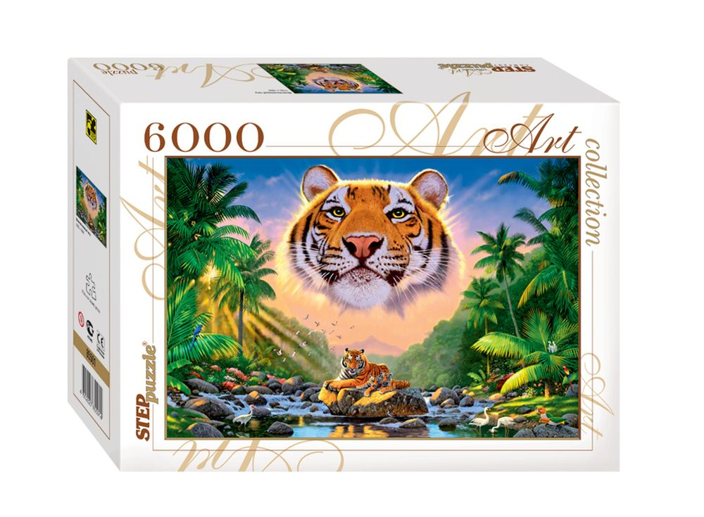 Пазлы «Величественный тигр»Пазлы от производителя Step Puzzle<br><br><br>Артикул: 85501<br>Размер: 170x116 см<br>Возраст: от 10 лет
