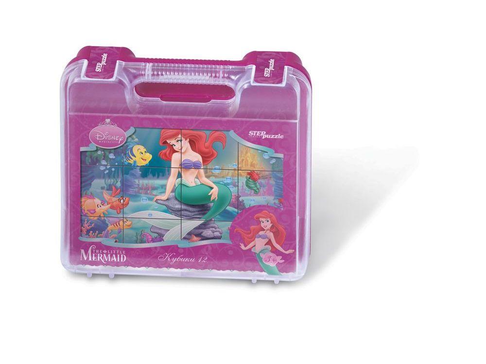 12 кубиков «Русалочка»Настольные развивающие игры<br>С помощью кубиков Step Puzzle Русалочка ребенок сможет собрать целых шесть красочных картинок с любимой принцессой Диснея.<br> Наборы из 12 кубиков - для тех, кто освоил навык сборки картинки из 9 кубиков. Заложенный дидактический принцип От простого к с...<br><br>Артикул: 87108<br>Размер упаковки: 20,5х16х5 см<br>Возраст: от 3 лет<br>Время игры: 10-30 мин.<br>Количество игроков: 1+<br>Аудитория: Детские