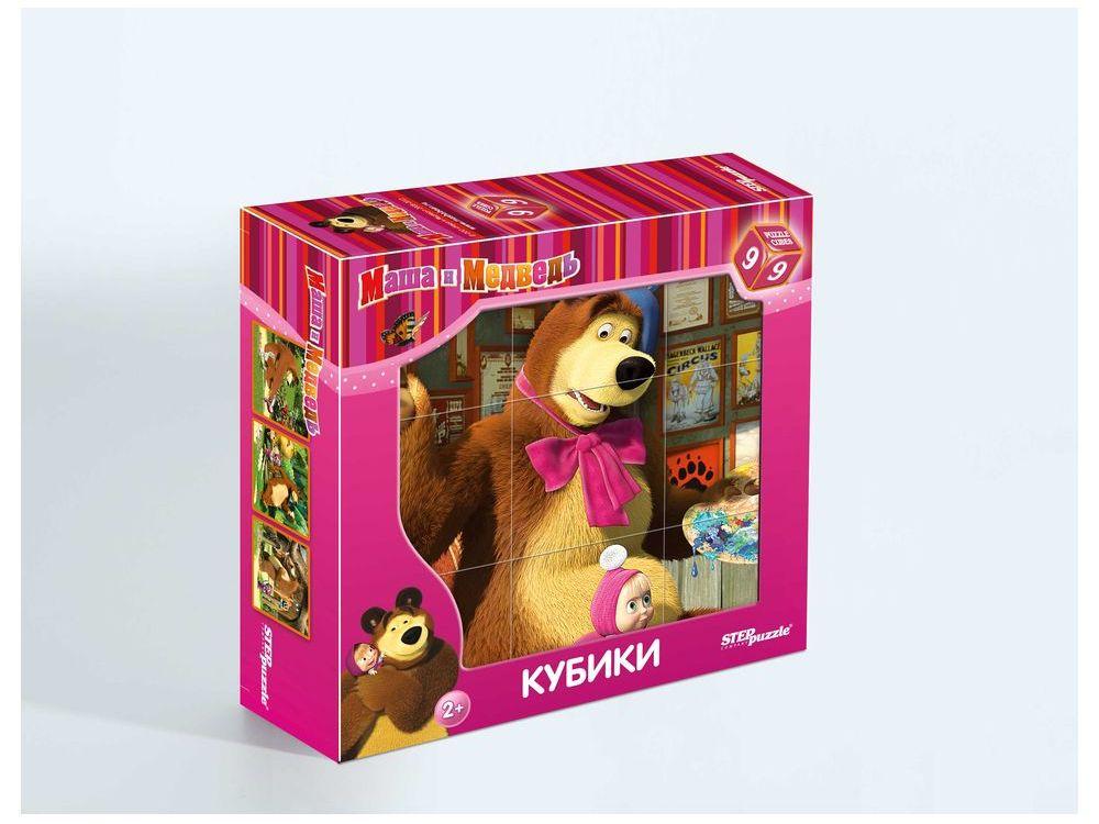 9 кубиков «Маша и Медведь»Настольные развивающие игры<br>С помощью кубиков Step Puzzle Маша и Медведь. Художники ребенок сможет собрать целых шесть красочных картинок с любимыми героями мультсериала Маша и Медведь. <br><br>Игра с кубиками развивает зрительное восприятие, наблюдательность, мелкую моторику рук и ...<br><br>Артикул: 87133<br>Размер упаковки: 14x14x5,5 см<br>Возраст: от 2 лет<br>Время игры: 10-30 мин.<br>Количество игроков: 1+<br>Аудитория: Детские